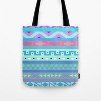 Calm Colored Tribal Prin… Tote Bag