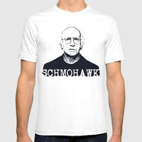 Schmohawk     Larry Davi… Mens Fitted Tee White SMALL