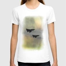 Tornadoes at Dawn Womens Fitted Tee White SMALL