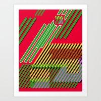 Slicing Pattern—lines … Art Print