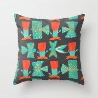Aztecish Birds Throw Pillow