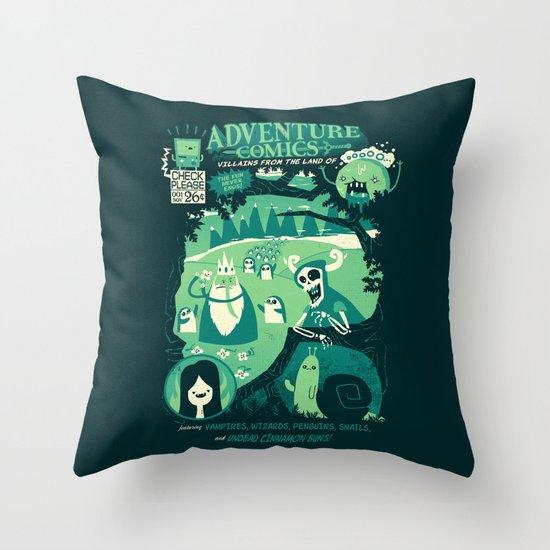 Adventure Comics Throw Pillow