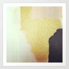 Gold White Black Art Print