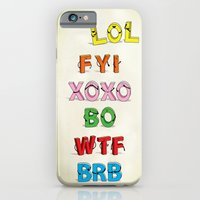 iPhone & iPod Case featuring Some Internet Abreviations by Fabian Gonzalez