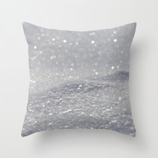 Grey Glitter Throw Pillow