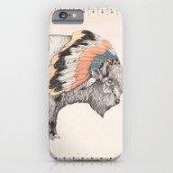 iPhone & iPod Case featuring White Bison by Sandra Dieckmann