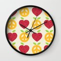 Apple and Orange - Love and Peace Wall Clock