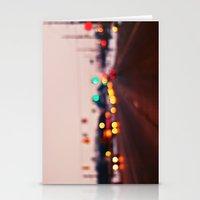 City Lights Bokeh Stationery Cards