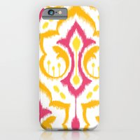 iPhone & iPod Case featuring Ikat Damask - Berry Brights by Patty Sloniger