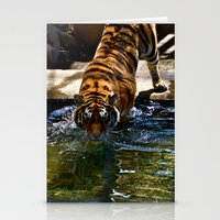 Swimming Tiger Stationery Cards