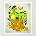 Croc-O-Ween Art Print