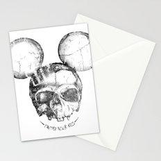 Mickey Skull Stationery Cards