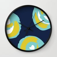 Big Rosie - Turquoise Wall Clock