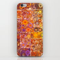 Autumnal Circles iPhone & iPod Skin
