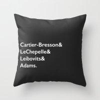 Cartier-Bresson & LeChep… Throw Pillow