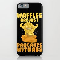 iPhone Cases featuring Waffles are like pancakes by LookHUMAN