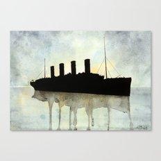Titanic watercolour Canvas Print