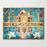 Reflections of the Taj Mahal Canvas Print
