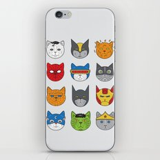 Super Cats iPhone & iPod Skin