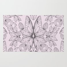 Rose Quartz Insect Wings Rug