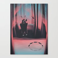 Dancing Fishes Canvas Print