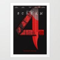 SCREAM 4 (Alternative Movie Poster) Art Print