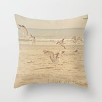 Love of the Ocean Throw Pillow