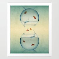 Goldfish Infinity Art Print