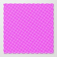 Canvas Print featuring PINK DOT - SMALL - by Mr.DOT
