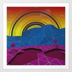 Digital Terrain Art Print
