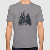 Dystopia city Mens Fitted Tee Tri-Grey SMALL