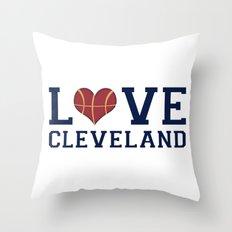 Love Cavs Throw Pillow