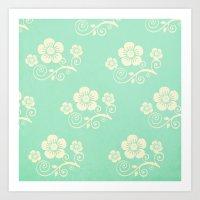 Plein Air Green Floral P… Art Print