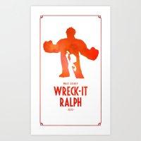 Wreck-It Ralph Art Print