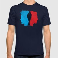 Fight Club Mens Fitted Tee Navy SMALL