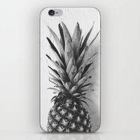 Black and white pineapple iPhone & iPod Skin
