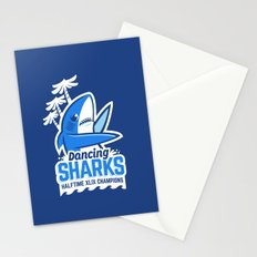 Dancing Sharks Stationery Cards