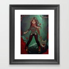 Vivid Forest Framed Art Print