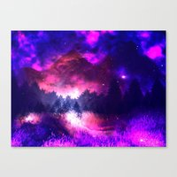 Cosmic Mountains Canvas Print