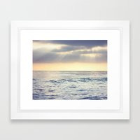 California Sunset over the Pacific Ocean Framed Art Print