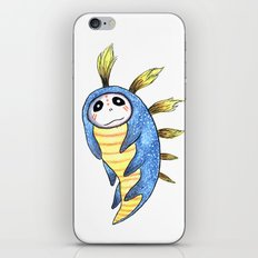 Blue Impworm iPhone & iPod Skin