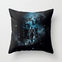 Time Traveller Throw Pillow