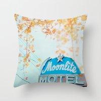 Meet me at the Moonlite Throw Pillow