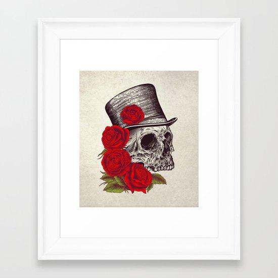 Dead Gentleman Framed Art Print