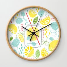 Summer Sippin' Wall Clock