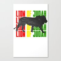 Lion (The Living Things … Canvas Print