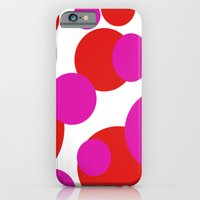iPhone Cases featuring Pink and Red dots  by Sammycrafts