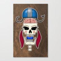 Skater Skull By RonkyTon… Canvas Print