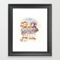 School Sailors Framed Art Print