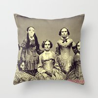 Mad Bitches Throw Pillow